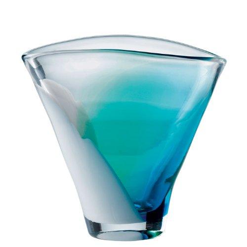 Vase en cristal bleu Royal Doulton