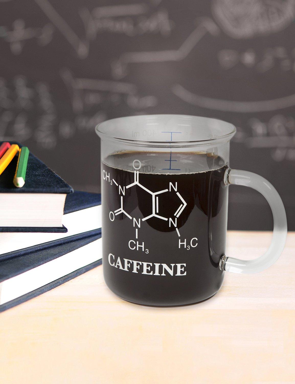Tasse molécule de caféine en forme de Bécher!