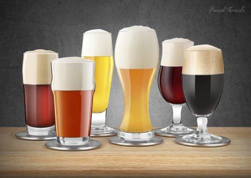 Ensemble de 6 verres à bière