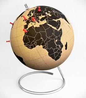 Globe du monde en liège