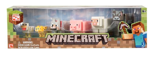 Minecraft – Jeu De Construction – Pack De 6 Animaux