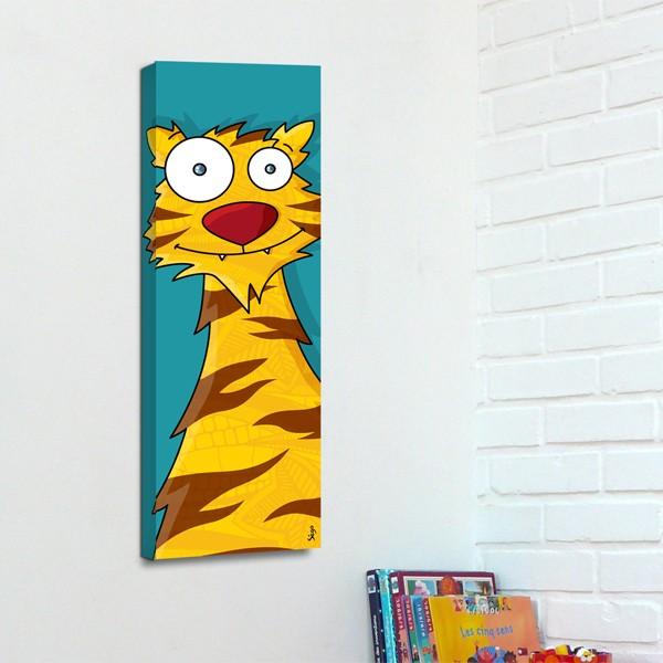 Tête de tigre : déco murale