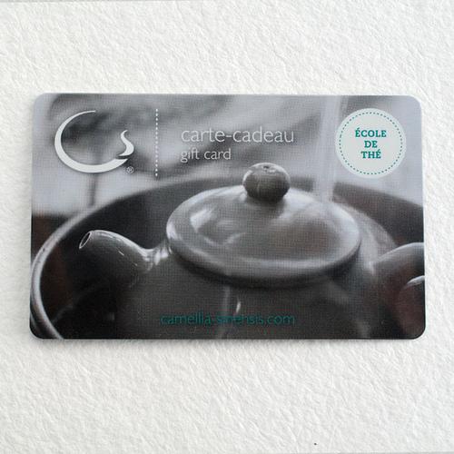 Carte-cadeau – Ateliers réguliers sur le thé