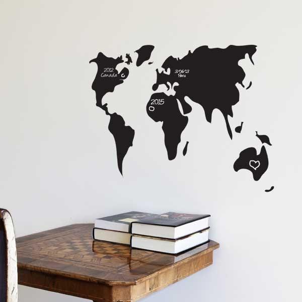 Tableau carte du monde id e cadeau qu bec for Tableau carte du monde ikea