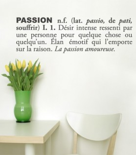 Citation : Passion