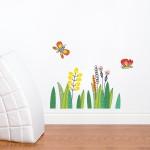 Déco murale : Fleurs et papillons
