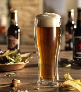 Ensemble 2 verres à bière double paroi