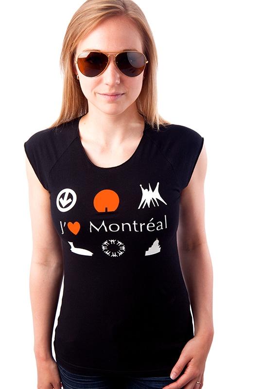 T-shirt J'aime Montréal pour femme