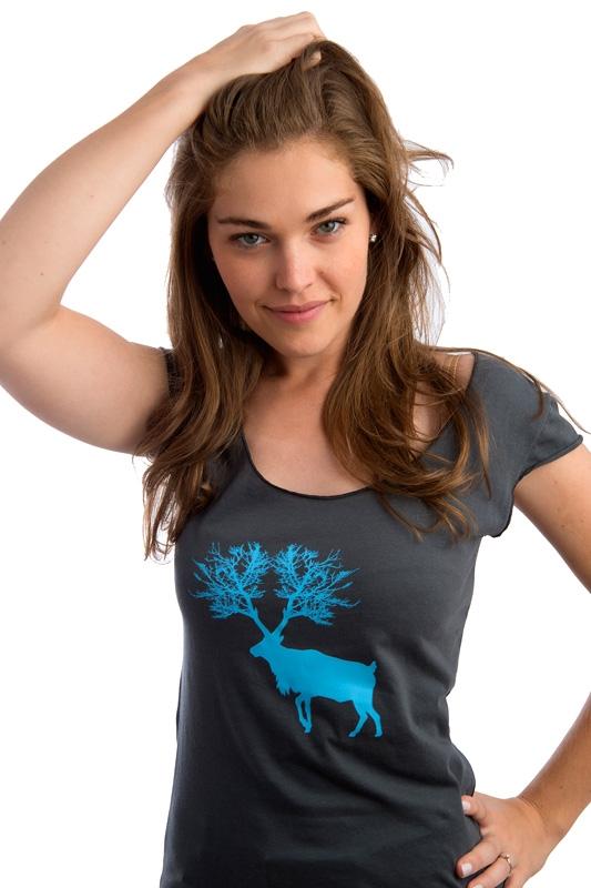 T-shirt caribou pour femme