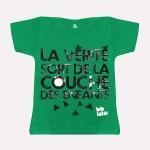 T-shirt - La vérité sort de la couche des enfants