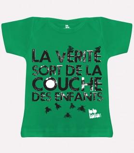 T-shirt – La vérité sort de la couche des enfants