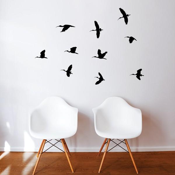 Autocollant mural: Vol d'oiseaux