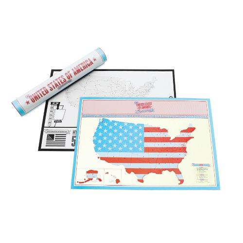 Carte à gratter des États-Unis