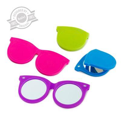 Miroir de poche lunettes tendances