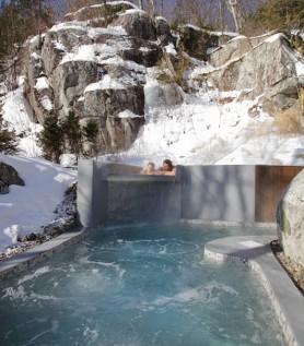 Accès aux bains La Source Bains Nordiques