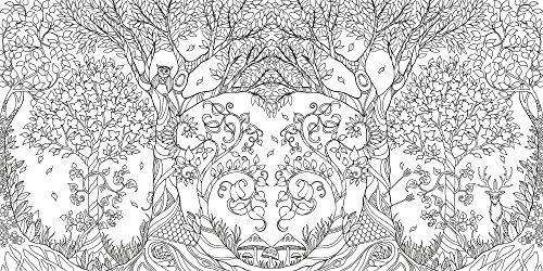 coloriage anti stress foret enchantée