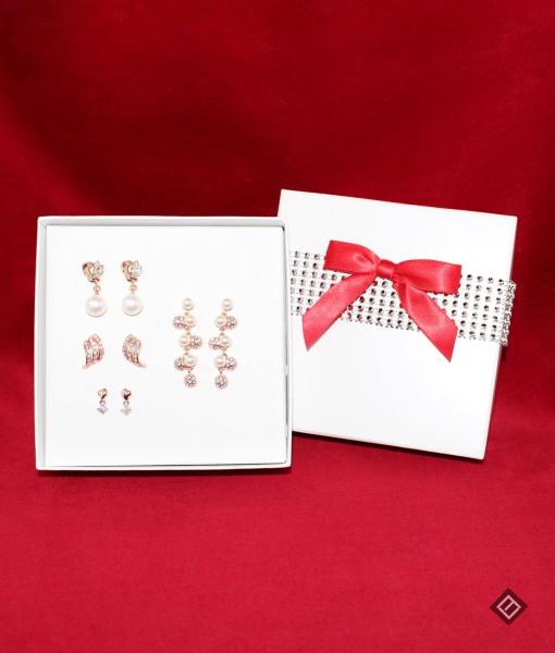 Coffret cadeau – Boucles d'oreilles or rose