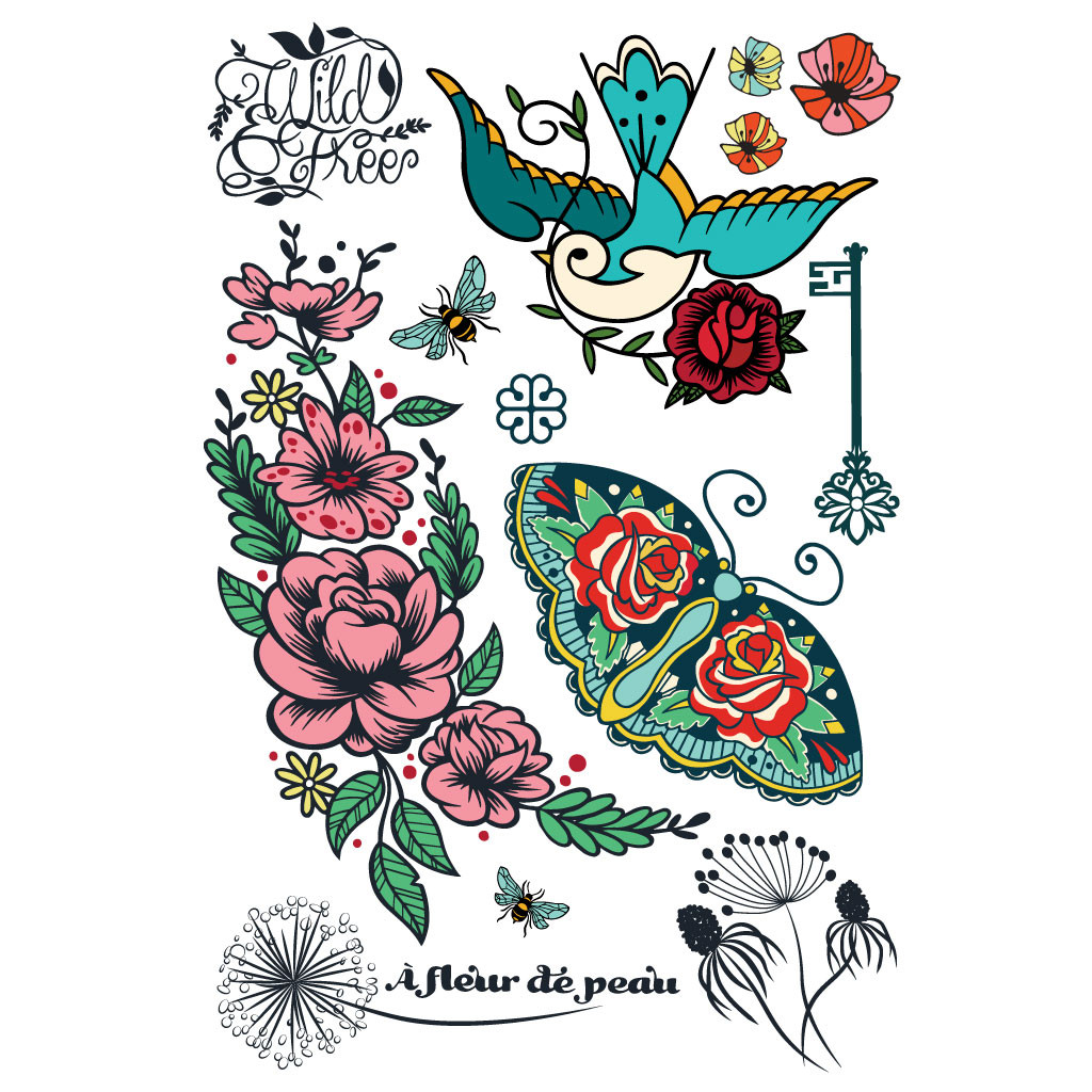 Cliquez ici pour acheter Tattoo temporaire À fleur de peau