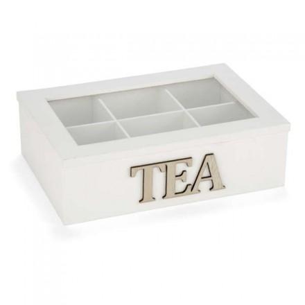 Boîte à thé blanche