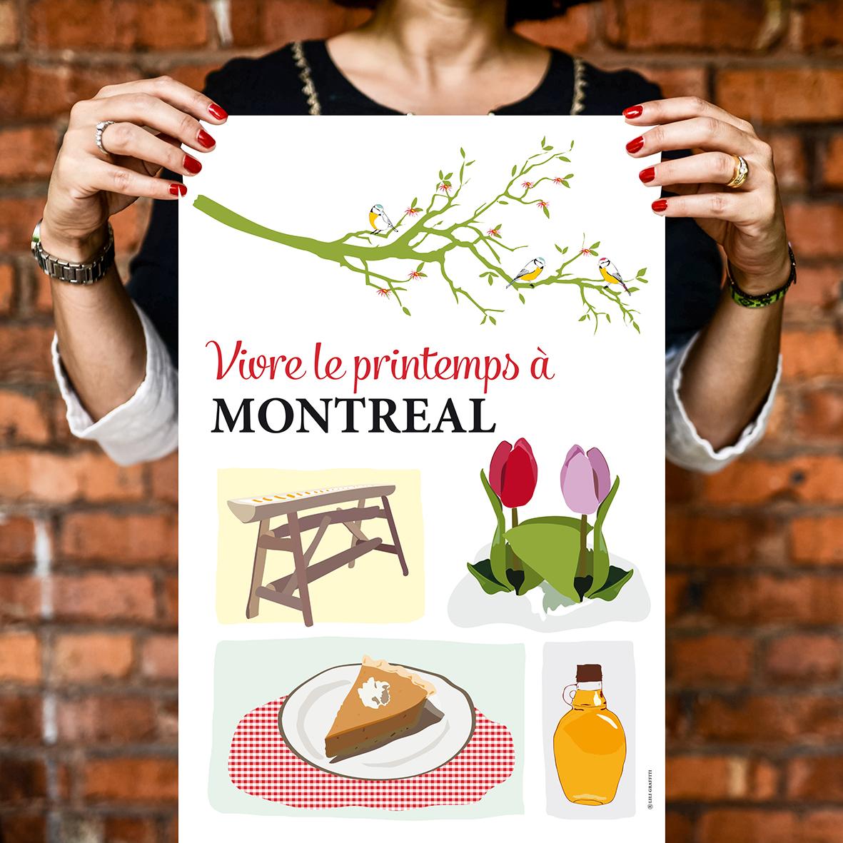 Cliquez ici pour acheter Le printemps à Montréal