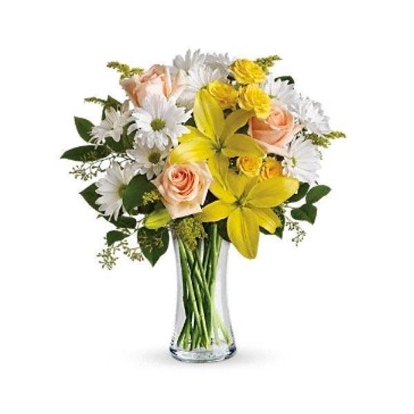 Bouquet rayon de soleil id e cadeau qu bec for Bouquet de fleurs quebec
