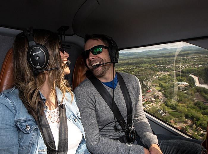 Tours et pilotage d'hélicoptère