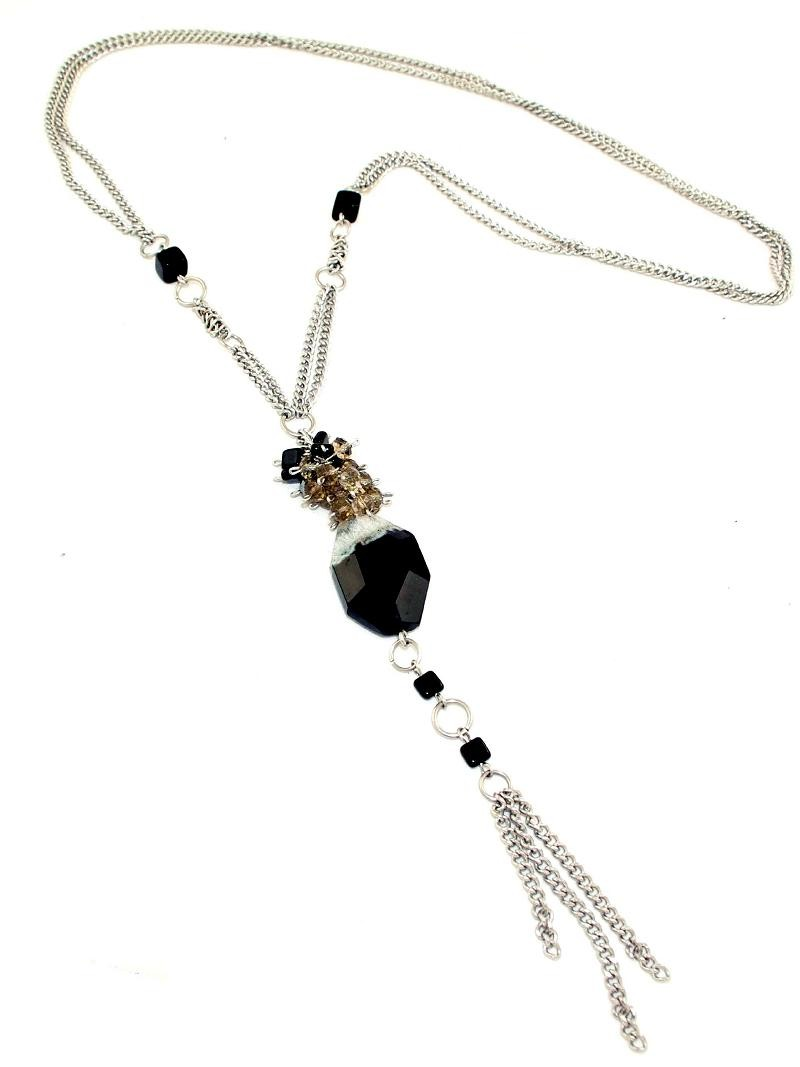 Collier long reine Agate