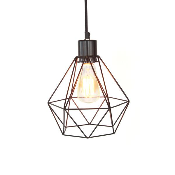 Lampe – Cage métallique