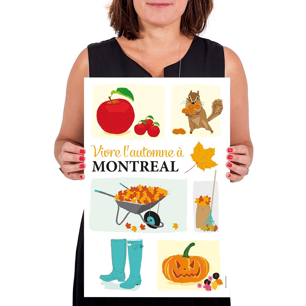 Cliquez ici pour acheter Affiche – Vivre l'automne à Montréal