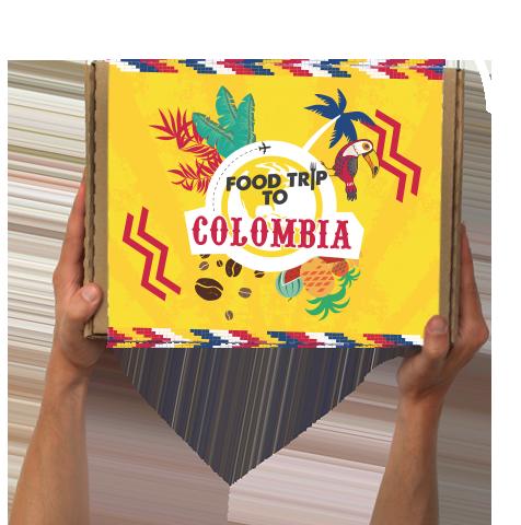 Boîte Food Trip To Colombie!