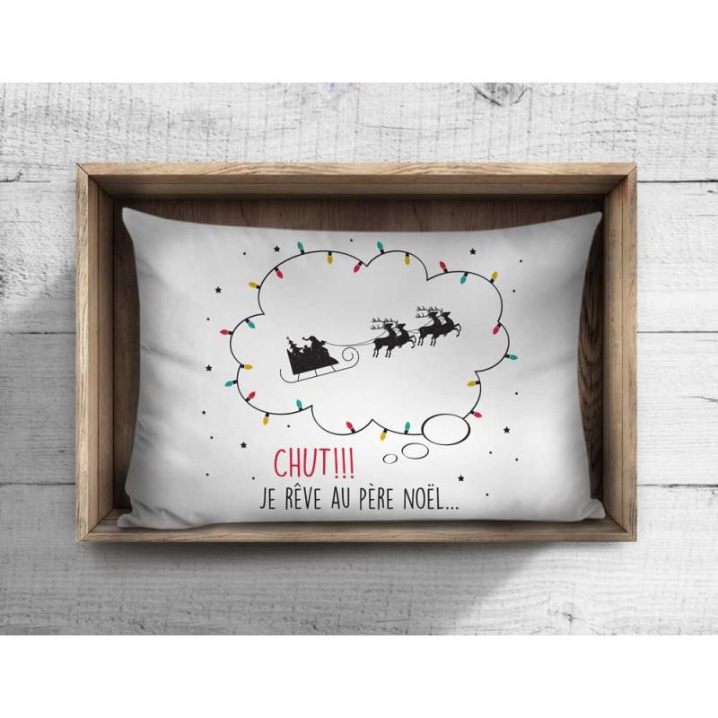 Cliquez ici pour acheter Taie d'oreille – Je rêve au père Noël