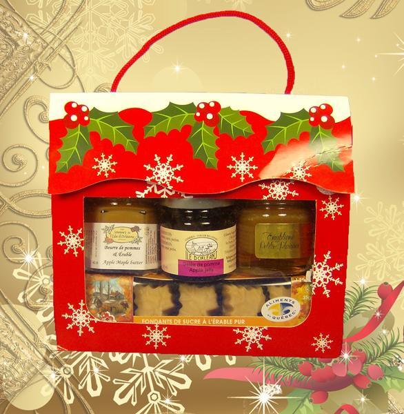 Boîte cadeau – Flocons de Noël