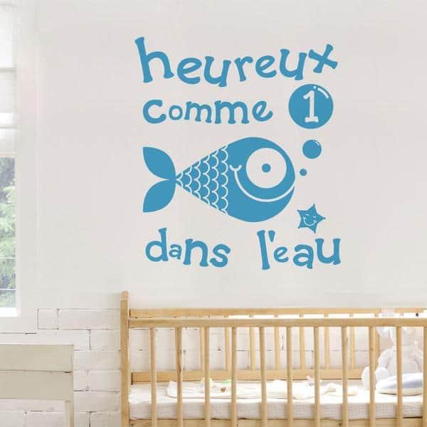 Cliquez ici pour acheter Collant- Heureux comme un poisson!
