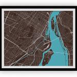 Carte de Montréal - Style classique