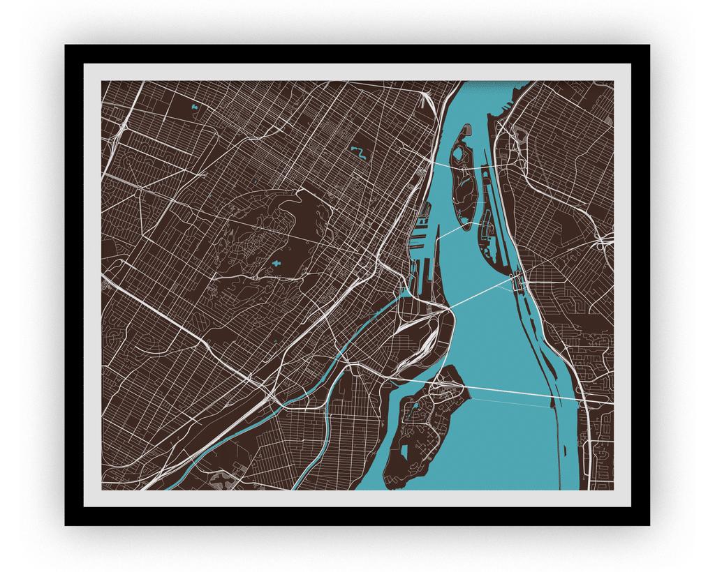Carte de Montréal – Style classique
