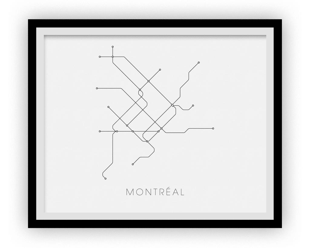 Affiche – Métro de Montréal