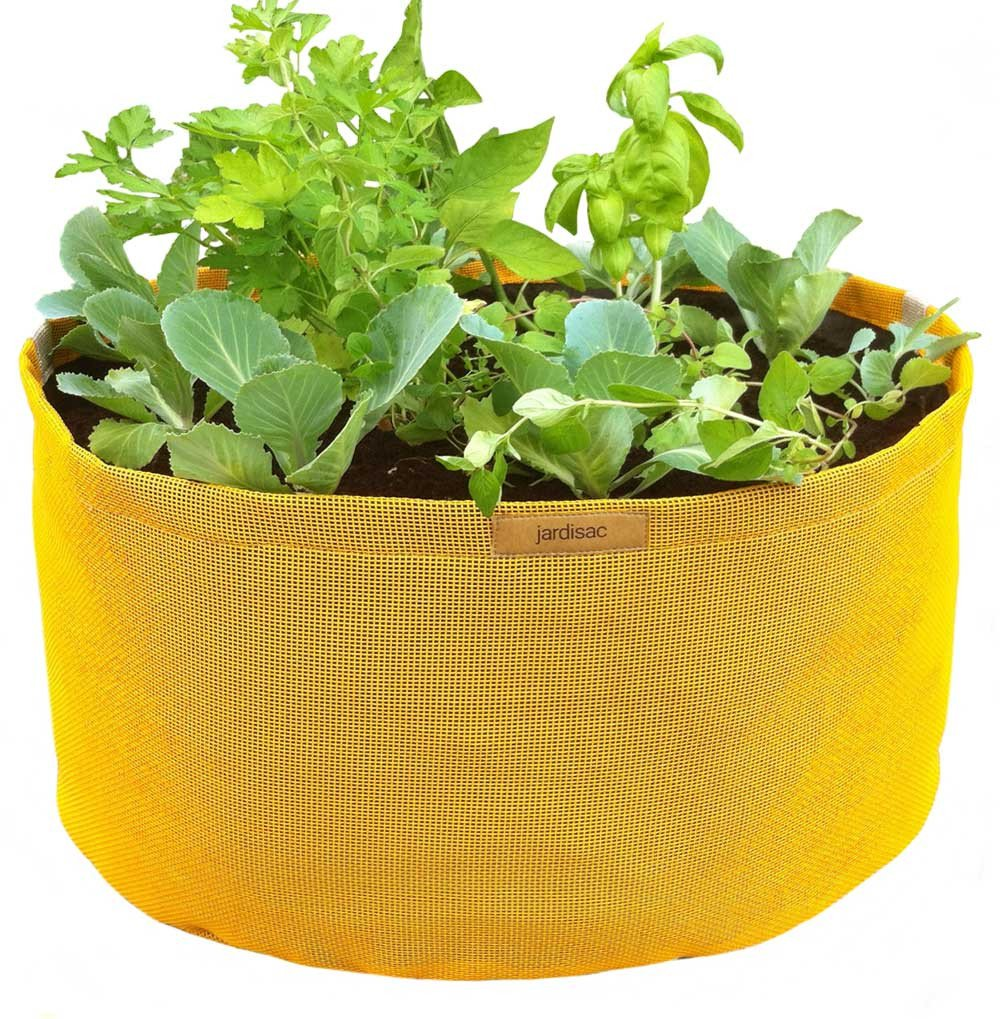 Grand pot jaune – 55 cm