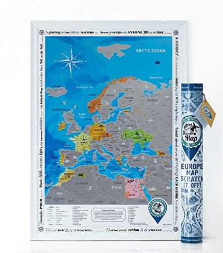 Carte de l'Europe à gratter
