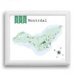 Carte de Montréal - 375 ans