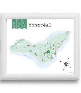 Carte de Montréal – 375 ans