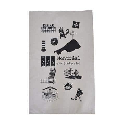 Linge à vaisselle – 375 ans Montréal