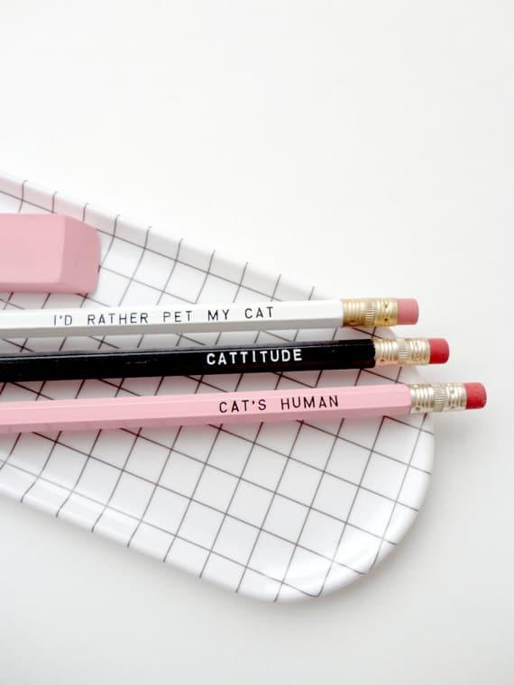 Crayons pour amateurs de chats