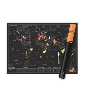 Carte du monde à gratter en ardoise