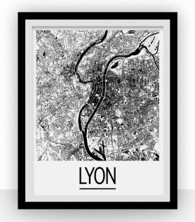 Carte de Lyon – Style Art Déco