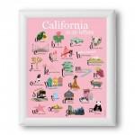Affiche - La Californie en 26 lettres