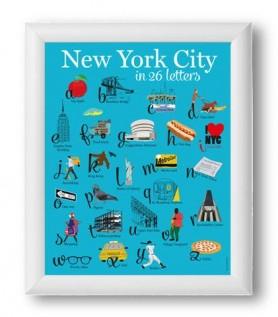 Affiche – New York en 26 lettres