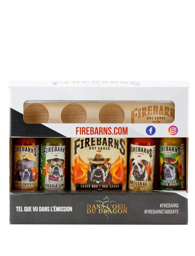 Boitier cadeau avec planchette – Sauces piquantes Firebarns
