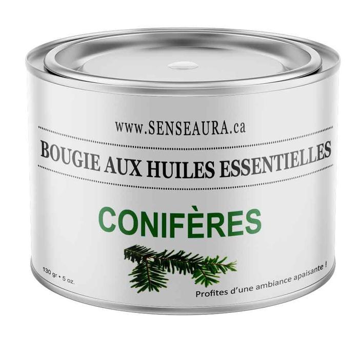 Cliquez ici pour acheter Bougie aux huiles essentielles de conifères