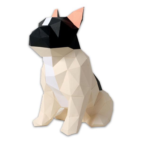 Bulldog en papier – DIY