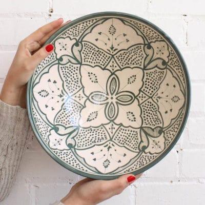 Saladier en céramique du Maroc
